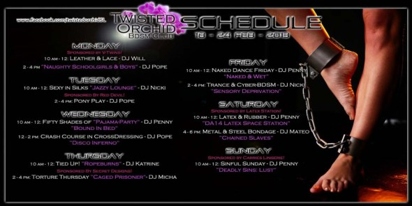 Twisted Orchid Events 18 - 24 Feb 2013